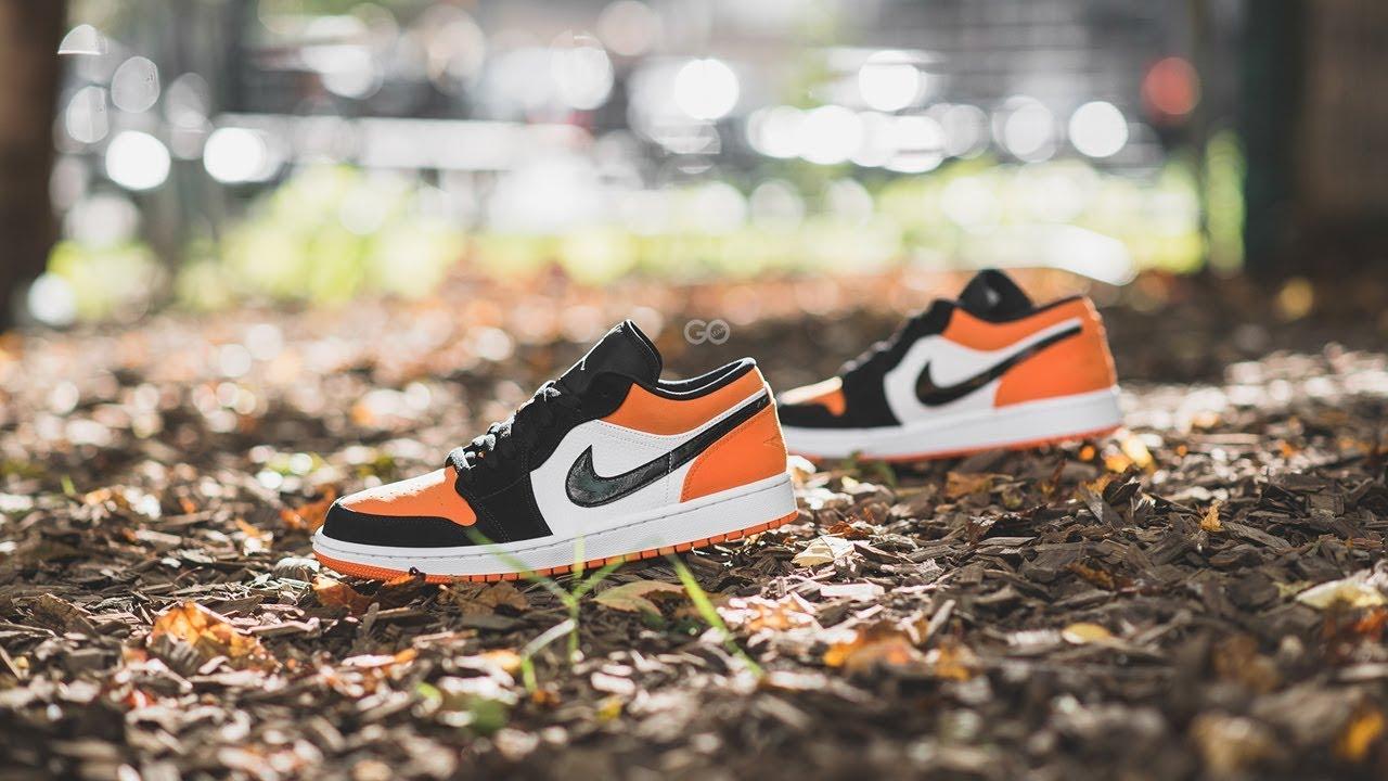 air jordan 1 low orange junior