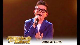 angel garcia 13 year old latin singer wows the crowd americas got talent 2018