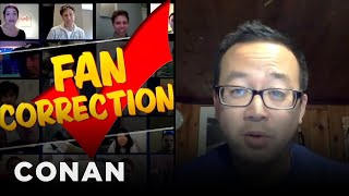 Fan Correction: That's Not A Jets Jersey!  - CONAN on TBS