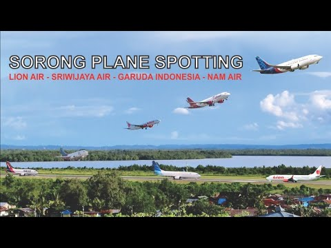 Sorong Plane Spotting, Pesawat Landing dan Take Off di Bandara DEO Kota Sorong Papua Barat