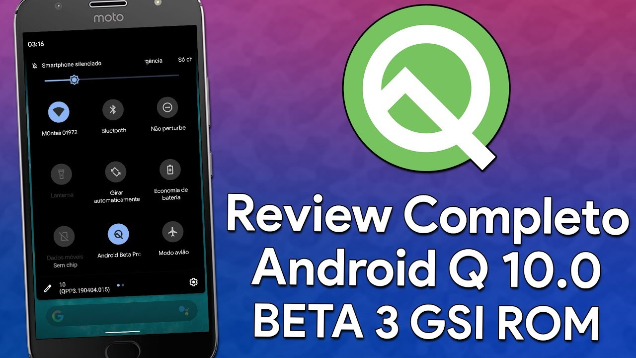 ANDROID Q 10 0 BETA 3 | REVIEW | NOVAS FUNÇÕES | DARK MODE E NOVOS GESTOS |  GSI TREBLE ROM
