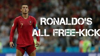 Ronaldo's All Freekick Goals in Portugal jersey