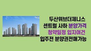 2020 12 04,두산위브더제니스 센트럴 사하 분양가…