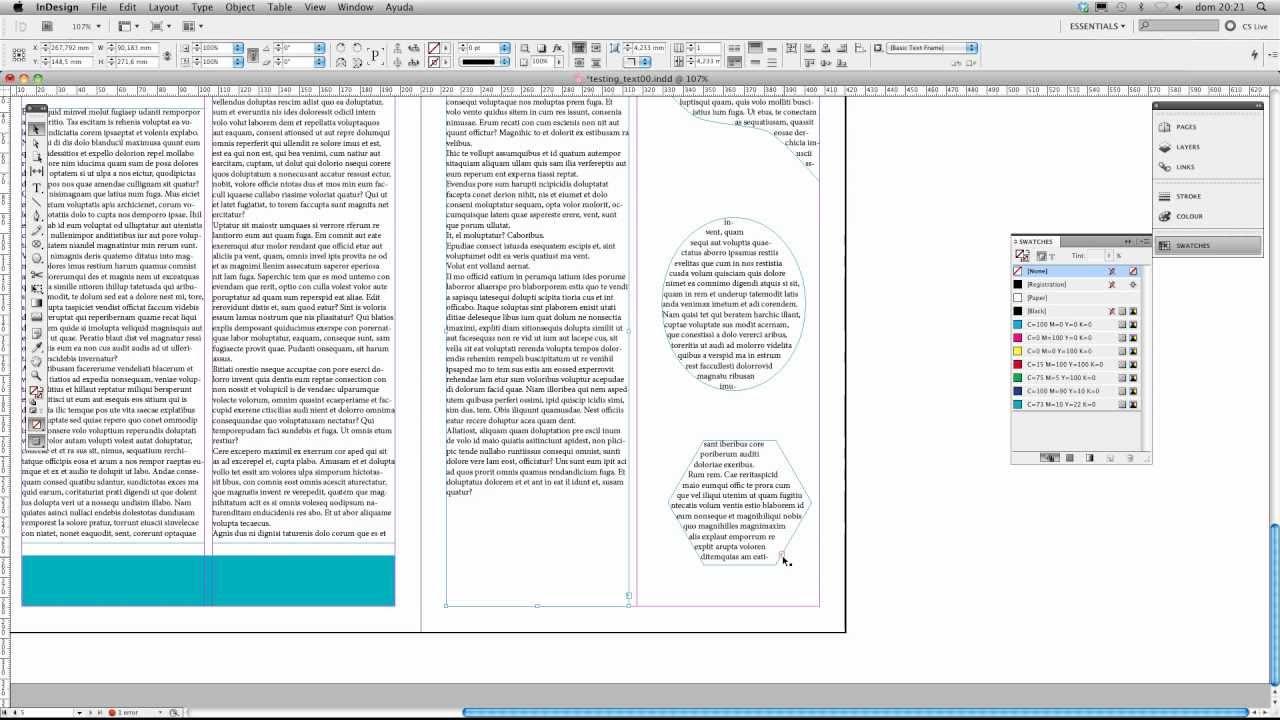 InDesign - Conectar marcos de texto - connect textframes - YouTube