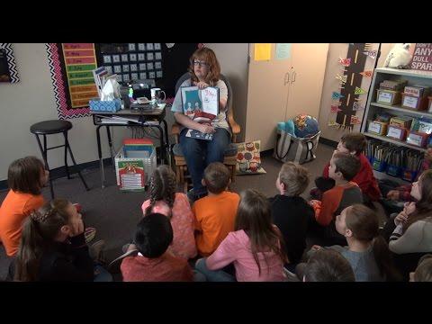 RVES Students Celebrate Reading on Dr  Seuss's Birthday