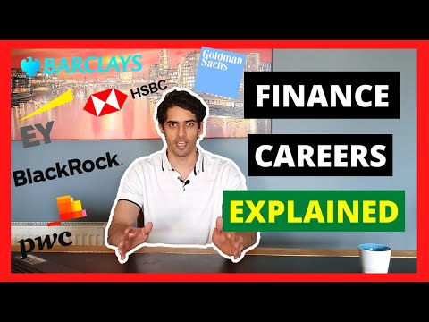 What are the different finance careers? | Investment banking| Asset management| Big 4 acc.| & Others