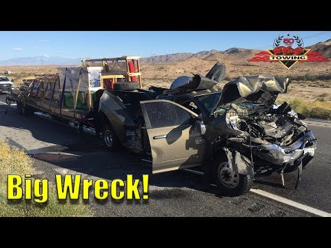 Very Bad Truck Wreck! Pickup Rear Ends Semi At 60+ MPH