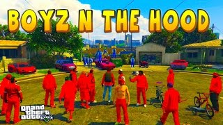 GTA 5 ONLINE -  BOYZ N THE HOOD | BLOODS VS CRIPS