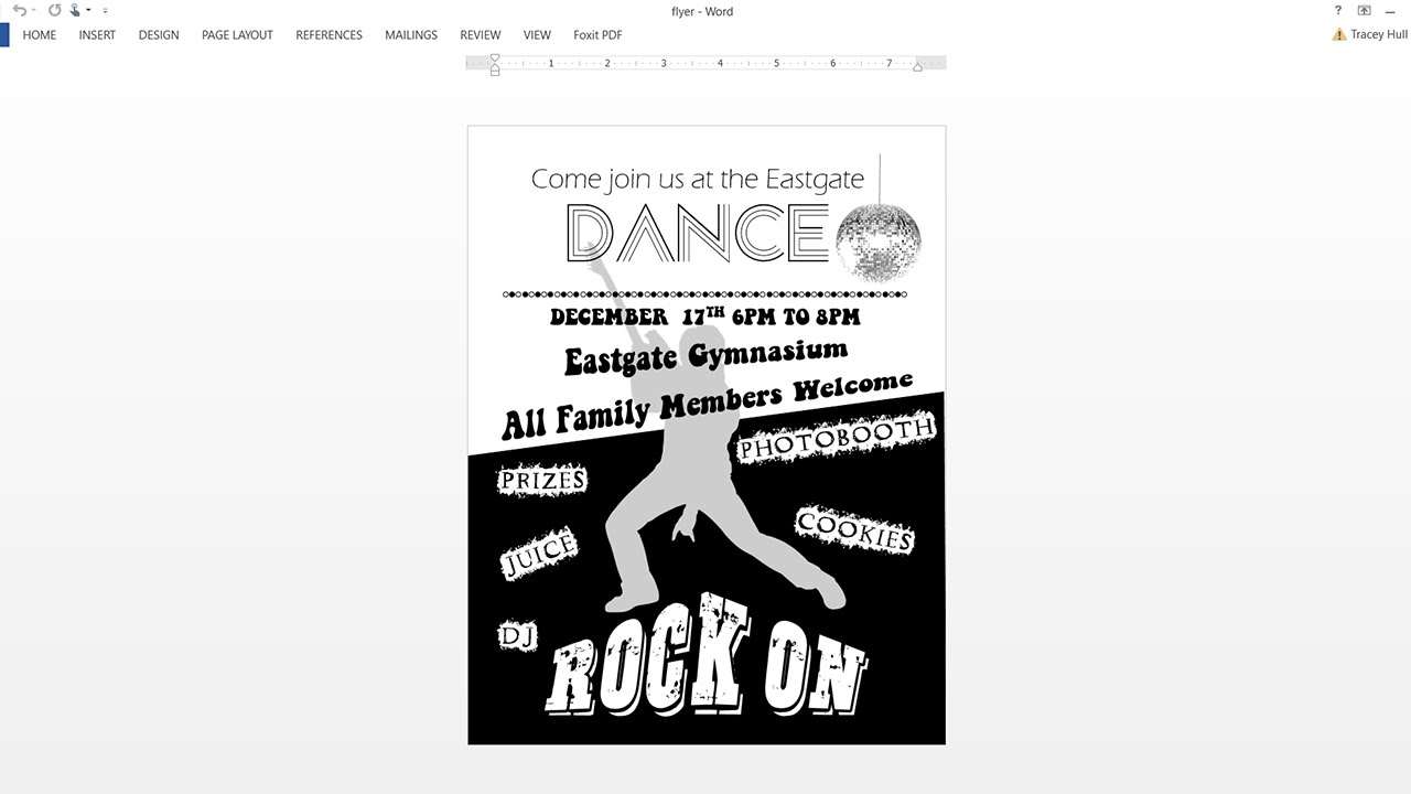 how to make black and white flyer