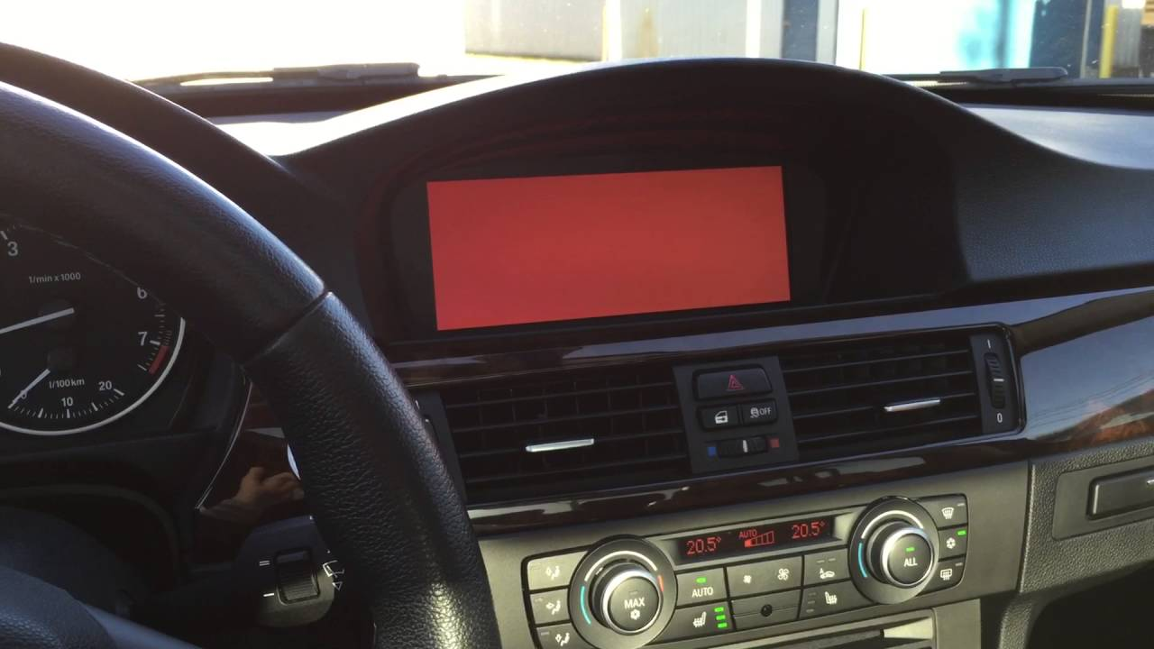 BMW iDrive Red Screen Fix