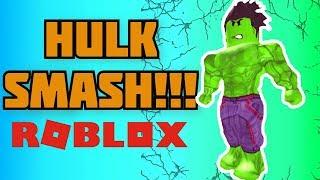 MUST SEE HULK SMASH in ROBLOX! Superhero Simulator! (Gaming for Kids)