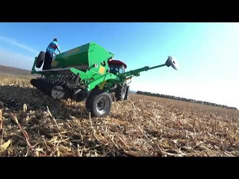 Посів пшениці після кукурудзи по нулю сівалкою НІКА 4
