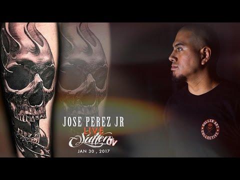 Jose Perez Jr live tattoo
