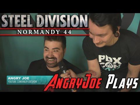 AngryJoe Plays Steel Division [Germans Vs Americans]!