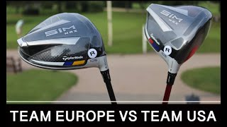 SPECIAL EDITION RYDER CUP TAYLORMADE SIM DRIVERS - TEAM EUROPE & TEAM USA