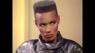 Grace Jones - The Russell Harty Show interview + Love is the Drug