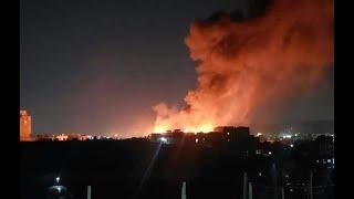 #عاجل : حريق هائل بالعاصمة صنعاء يلتهم سوق سوداء للمشتقات النفطية