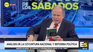 Pedro Cateriano habla sobre Alejandro Toledo, Vargas Llosa y la coyuntura política