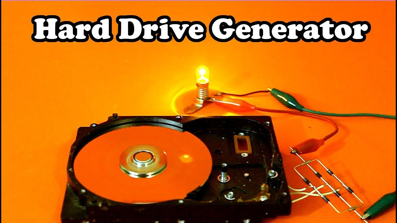Hard Drive Disk Motor as Electric Generator