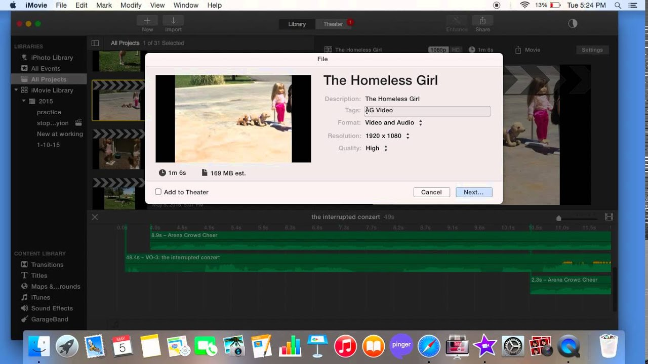 How to upload video from macbook air