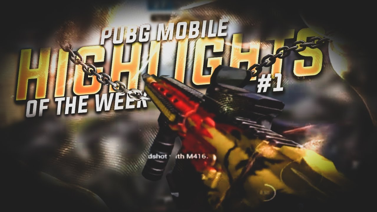 Free To Use Pubg Mobile Highlight Of The Week Thumbnail Youtube