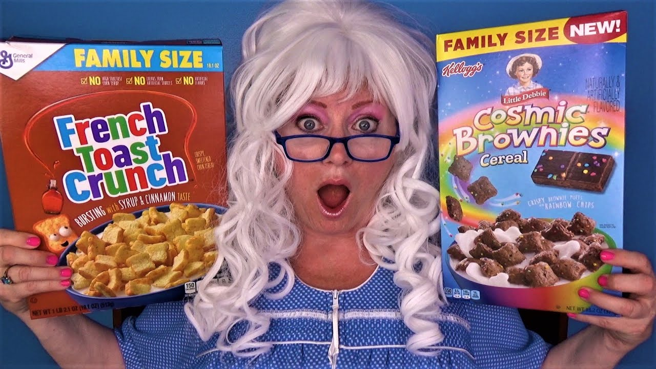 Cosmic Brownie Cereal French Toast Crunch Birthday Cake Pebbles Granny McDonald