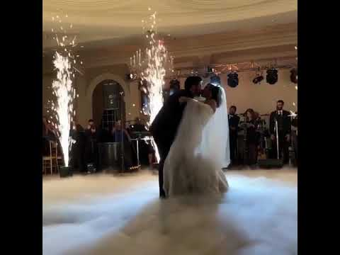 Fireworks or Sparklers for first dance NJ wedding at Rockleigh Country Club