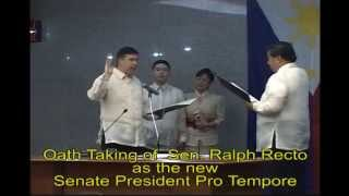 Oath Taking of Sen Ralph Recto as Senate President Pro tempore
