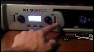 Crown XLS1500 Power Amplifier Review/How we hook it up!