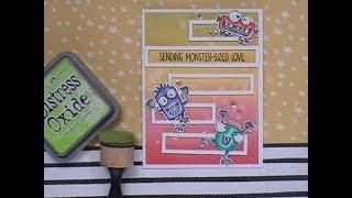 SFL Sending Monster Sized Love Card / My Favorite Things Monster Sized