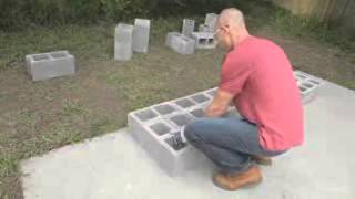 Diy Network:  How To Build A Block Garden Wall With Quikrete®