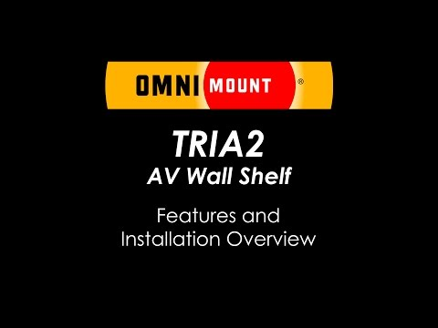 OmniMount TRIA2 AV Wall Shelving System