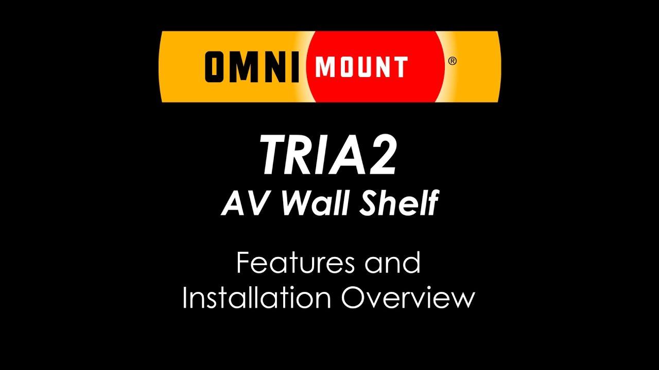 av wall shelf system bracket omnimount tria2 av wall shelving system youtube