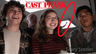 Pranking the cast of SCARY STORIES TO TELL IN THE DARK *freakout*