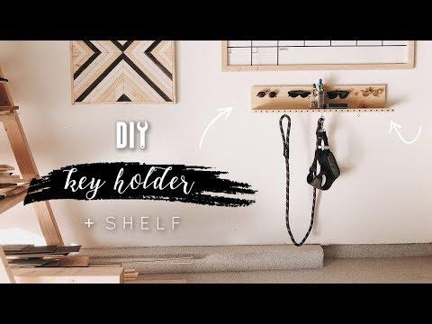 DIY Easy Key Holder Shelf