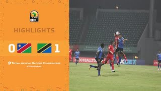 HIGHLIGHTS   Total CHAN 2020   Round 2 - Group D: Namibia 0-1 Tanzania