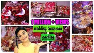 WEDDING TROUSSEAU PACKING | EASY CREATIVE IDEAS for Indian Weddings | Engagement Ring Platter #DIY