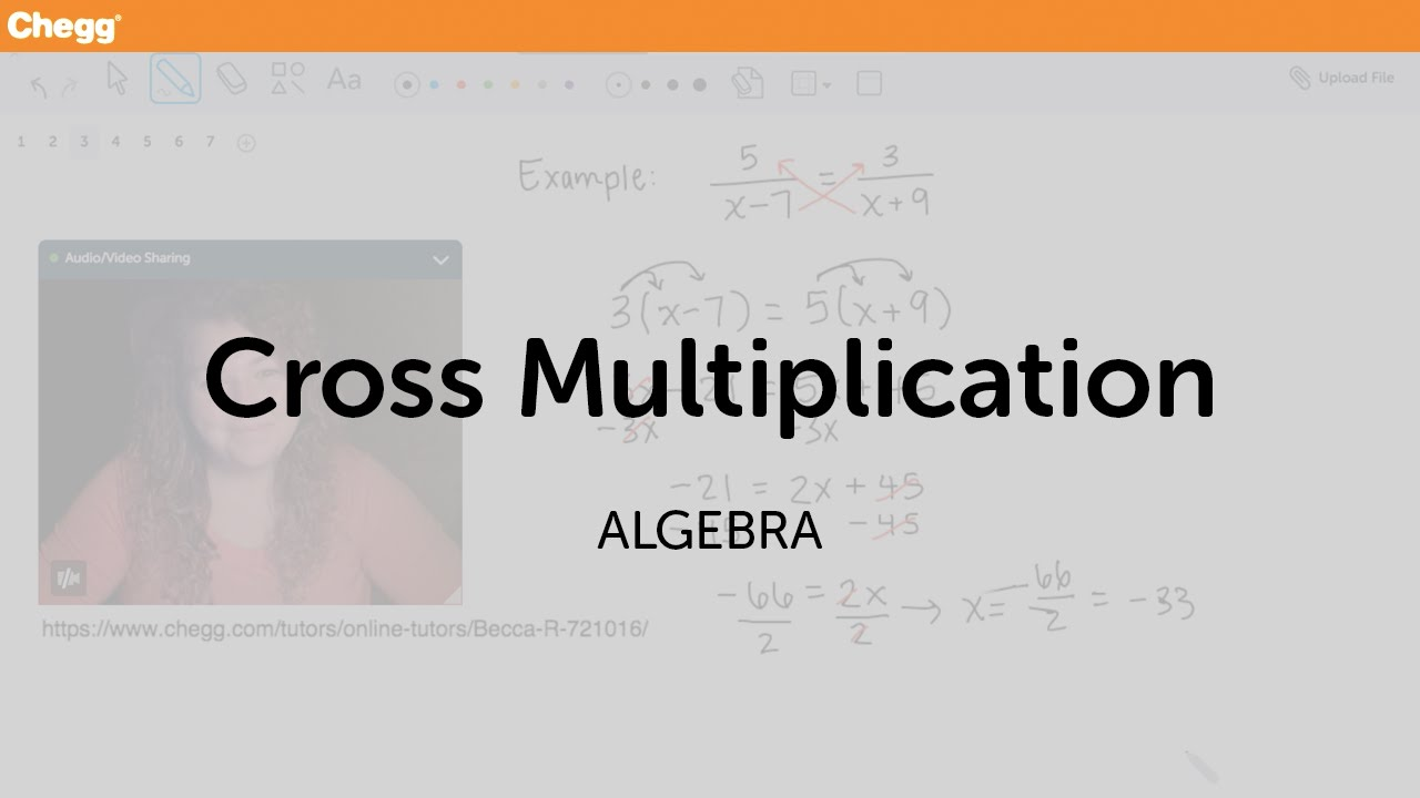 worksheet Cross Multiplication Worksheet cross multiplication algebra chegg tutors youtube tutors