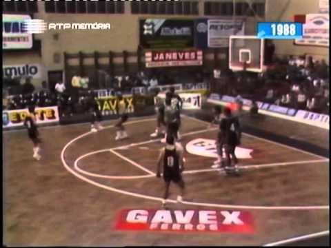Basquetebol :: Ovarense - 108 x Sporting - 93 de 1988/1989