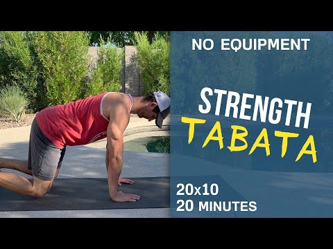 20 Minutes Total Body Tabata Strength Workout (No Equipment!)