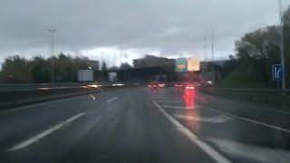 Lluvias intensas en la red viaria vasca