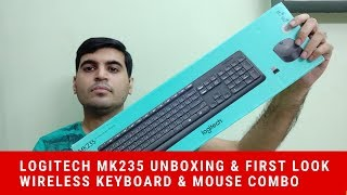 Logitech MK235 Unboxing & Review Wireless Keyboard & Mouse Combo | Technical Chaharji