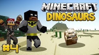 Minecraft Dinosaurs Mod (Fossils and Archaeology) Survival Series, Episode 4 - T-REX EGG!