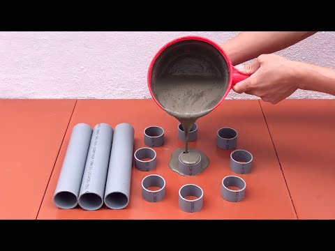 Unique Ideas From Cement - DIY Cement Flower Pots From PVC Pipes - Cement Craft Ideas At Home