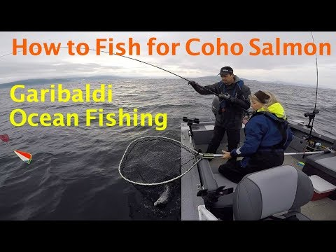 Ocean Fishing Outside Of Garibaldi, Oregon.  HOW TO Instructions At End Of Video.