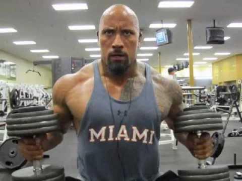 ROCK - Dwayne johnson exercise in gym - YouTube