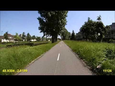 Paris - Claye-Souilly - Via la Piste Cyclable du Canal de l'Ourcq
