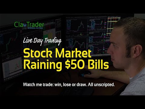 Live Day Trading – Stock Market Raining $50 Bills