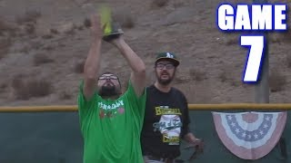 USING A CARDBOARD GLOVE! | Offseason Softball Series | Game 7