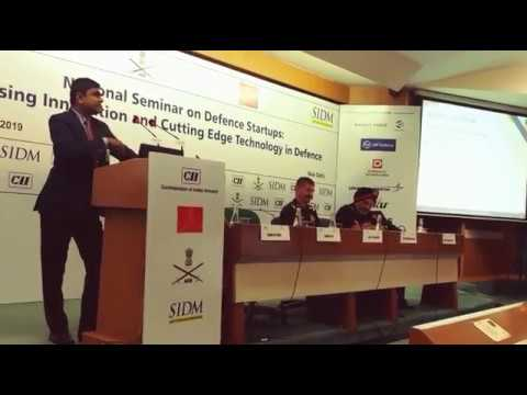 zeus-numerix-presentation-at-the-national-seminar-for-defence-startups-at-sidm,-india
